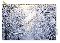 Snowy Pathway Carry-all Pouch by Marius Sipa