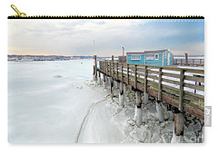 Snowy Pier Boots Carry-all Pouch