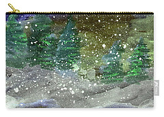 Snowy Pines Carry-all Pouch by R Kyllo