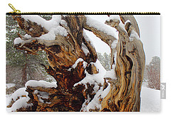 Carry-all Pouch featuring the photograph Snowy Roots 2 by Shane Bechler