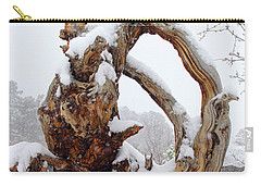 Carry-all Pouch featuring the photograph Snowy Roots by Shane Bechler