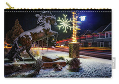 Carry-all Pouch featuring the photograph Snowy Sisters by Cat Connor