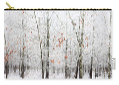Carry-all Pouch featuring the photograph Snowy Trees Abstract by Benanne Stiens