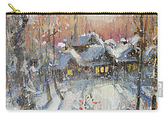 Snowy Village Carry-all Pouch