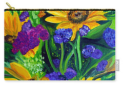 Sunflowers -soaking Up Sunshine Carry-all Pouch