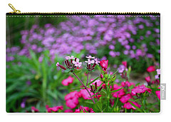 Carry-all Pouch featuring the photograph Soapwort And Pinks by Kathryn Meyer