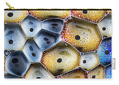 Carry-all Pouch featuring the photograph Soapy Colors by Jean Noren