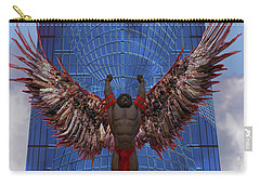 Carry-all Pouch featuring the digital art Soar by Iowan Stone-Flowers