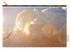 Soaring At Sunset, Hawk Silhouette Carry-all Pouch by A Gurmankin