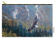 Carry-all Pouch featuring the painting Soaring Eagle by Donald Maier