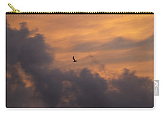 Carry-all Pouch featuring the photograph Soaring Into The Sunset by Richard Bryce and Family