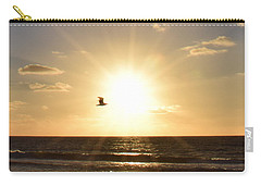 Soaring Seagull Sunset Over Imperial Beach Carry-all Pouch