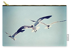 Carry-all Pouch featuring the photograph Soaring Seagulls by Trish Mistric