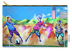 Soccer Graffiti Carry-all Pouch by Theresa Tahara