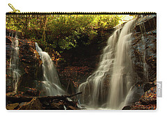 Carry-all Pouch featuring the photograph Soco Waterfalls From Spillway by Chris Flees