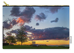 Sodus Bay Lighthouse At Sunset Carry-all Pouch
