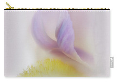 Carry-all Pouch featuring the photograph Soft And Delicate Iris by David and Carol Kelly