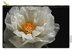 Carry-all Pouch featuring the photograph Soft And Pure by Judy Vincent