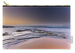 Soft And Rocky Sunrise Seascape Carry-all Pouch