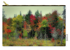 Carry-all Pouch featuring the photograph Soft Autumn Panorama by David Patterson