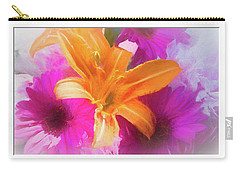 Soft Day Lily Carry-all Pouch