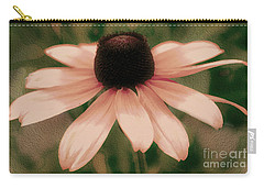 Soft Delicate Pink Daisy Carry-all Pouch by Judy Palkimas