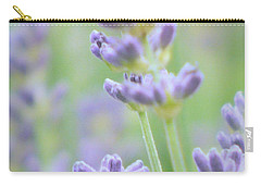 Carry-all Pouch featuring the photograph Soft Focus Lavender by Lynn Bolt