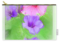 Soft Petunias Carry-all Pouch
