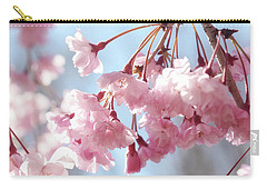 Soft Pink Blossoms Carry-all Pouch by Trina Ansel