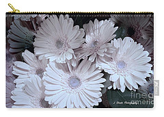 Soft Pink Daisy Bouquet Carry-all Pouch by Jeannie Rhode
