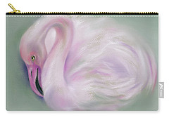 Soft Pink Flamingo Carry-all Pouch