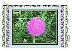 Soft Pink Thistle Carry-all Pouch