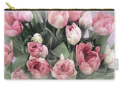 Soft Pink Tulips Carry-all Pouch
