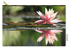 Soft Pink Water Lily Carry-all Pouch