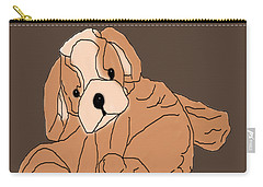 Carry-all Pouch featuring the digital art Soft Puppy by Jayvon Thomas