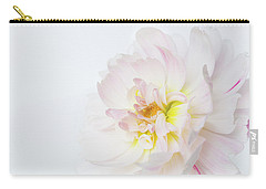 Carry-all Pouch featuring the photograph Soft Ruffles by Mary Jo Allen
