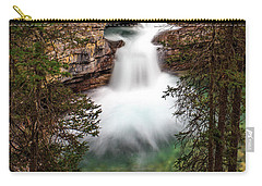 Carry-all Pouch featuring the photograph Soft Smooth Waterfall by Darcy Michaelchuk