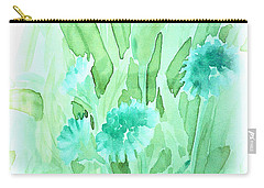 Soft Watercolor Floral Carry-all Pouch by Judy Palkimas