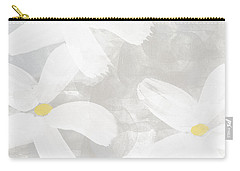 Soft White Flowers Carry-all Pouch