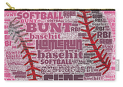 Softball  Carry-all Pouch by Brandi Fitzgerald