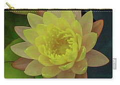 Softly Pink And Yellow Lilly Carry-all Pouch