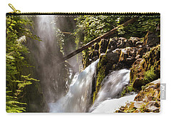 Carry-all Pouch featuring the photograph Sol Duc Falls by Adam Romanowicz