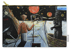 Carry-all Pouch featuring the painting Solar Broadcast -transition- by Ryan Demaree