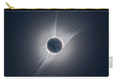 Solar Corona During The Eclipse Of August 21 2017 Carry-all Pouch