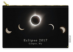 Carry-all Pouch featuring the photograph Solar Eclipse Collage 2 by Rikk Flohr