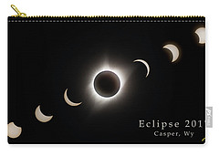 Carry-all Pouch featuring the photograph Solar Eclipse Collage 3 by Rikk Flohr
