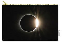 Carry-all Pouch featuring the photograph Solar Eclipse Diamond Ring by Lori Coleman
