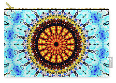Carry-all Pouch featuring the digital art Solar Flare 1 by Wendy J St Christopher