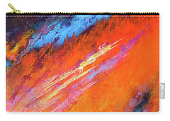 Solar Flare Up. Acrylic Abstract Painting On Canvas. Carry-all Pouch