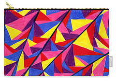 Carry-all Pouch featuring the drawing Solar Fractals by Kim Sy Ok
